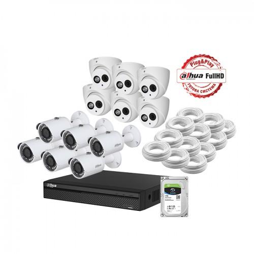Комплект за видеонаблюдение с 12 броя камери и видеорекордер 8ch Penta-brid 4K Mini XVR5108H-4KL-8P