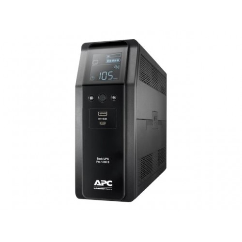 APC Back UPS Pro BR 1200VA Sinewave 8 Outlets AVR LCD interface