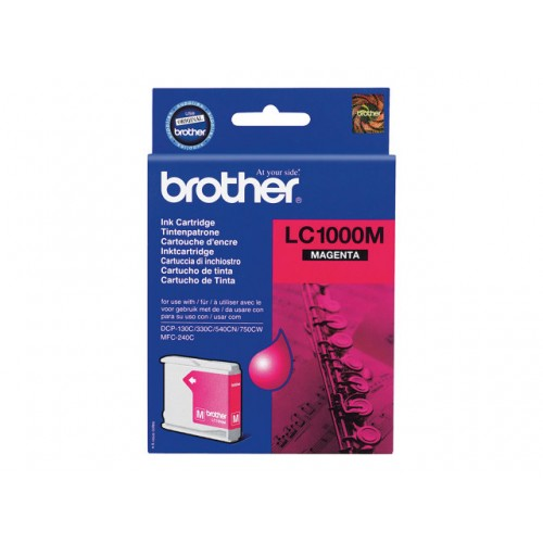 BROTHER LC-1000 ink cartridge magenta standard capacity 500 pages 1-pack