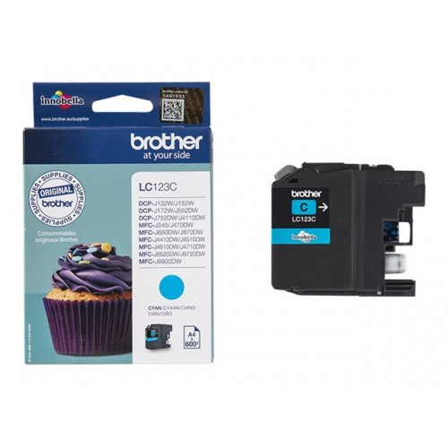 BROTHER LC123C Ink Brother LC123C cyan   600 pgs   MFC-J4510DW