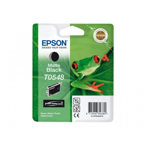 EPSON T0548 ink cartridge matte black standard capacity 13ml 550 pages 1-pack blister without alarm