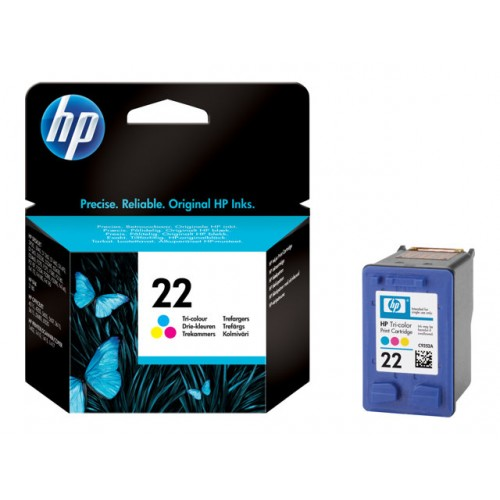 HP 22 original ink cartridge tri-colour standard capacity 5ml 165 pages 1-pack Blister multi tag