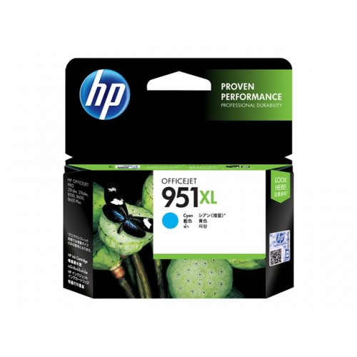 HP 951XL original ink cartridge cyan high capacity 1.500 pages 1-pack Blister multi tag Officejet