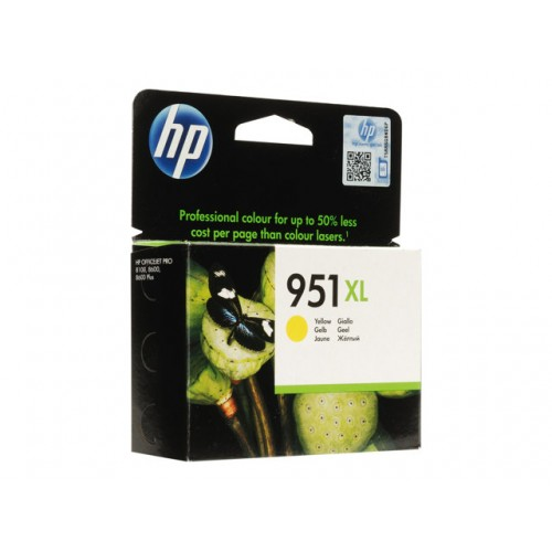 HP 951XL original ink cartridge yellow high capacity 1.500 pages 1-pack Blister ..